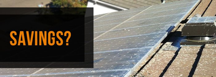 Solar Panel Cleaning Savings
